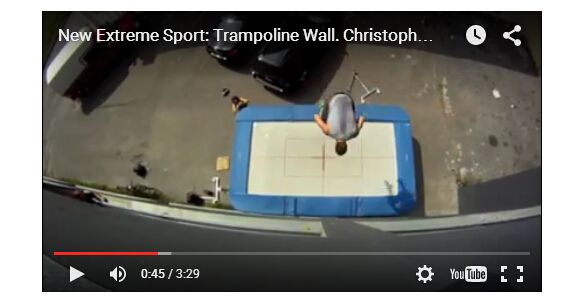 awesome video for trampoline