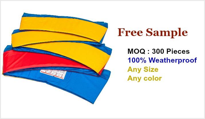 Trampoline frame pads