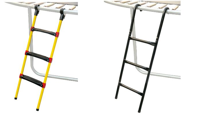 trampoline plastic parts : trampoline ladders