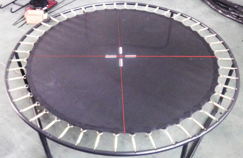 measure sieze of trampoline mats