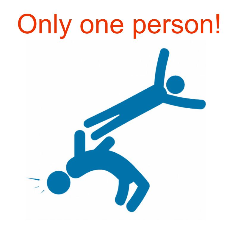 only one person