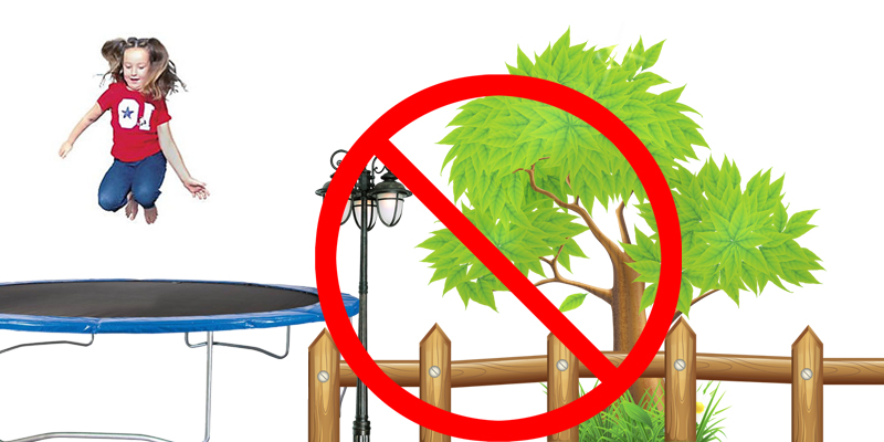 do not install trampoline near tree