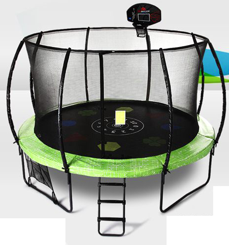 trampoline with ladders